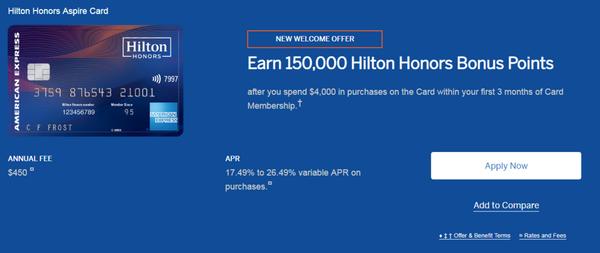 美國信用卡|如何申請美版美國運通Hilton Aspire信用卡(150K開卡禮)